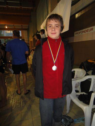 Natathlon départemental première journée à Fontaine