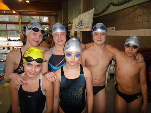 Les benjamins en progression lors du 2ème Natathlon à Fontaine (dimanche 20/02)