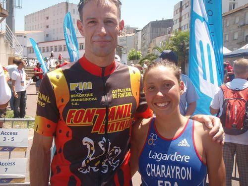 Championnats d'Europe de Triathlon à Pontevedra (Espagne) le 26 juin 2011, Mathieu Fougères 4ème dans la catégorie vétérans (40-44 ans).