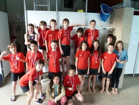 Socle 3 Avenirs Poussins du 11 mars, 11 médailles pour les garçons
