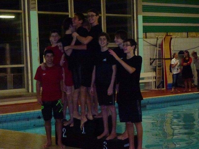 Championnats interclubs Départementaux minimes : Les garçons gravissent le podium.