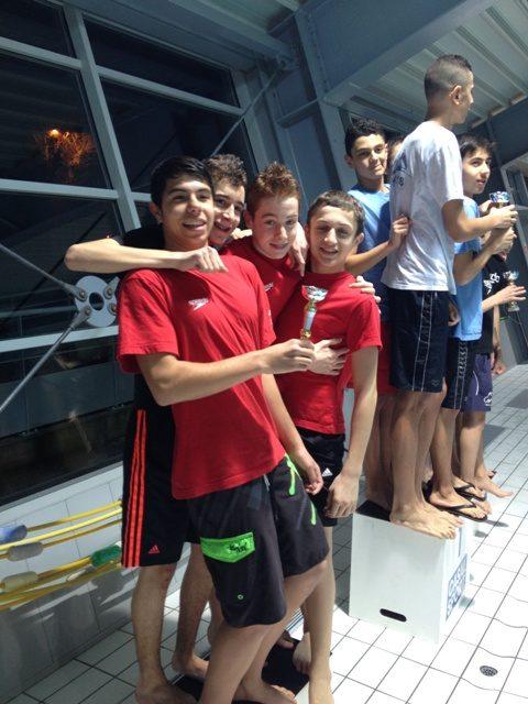 Interclubs Minimes à la Côte St-André : l'équipe garçons emmenée par Quentin Piveau et Yannis Brotel en grande forme monte sur la 3ème marche du podium