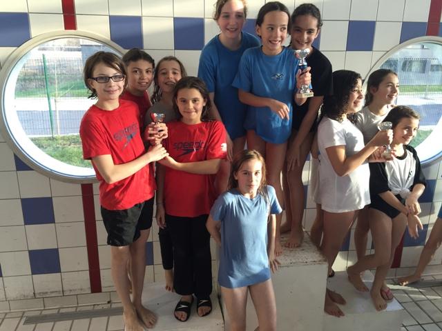 Championnats interclubs poussins : Les filles médaille d'argent