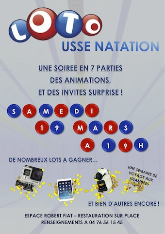 Samedi soir: grande soirée Loto de l'USSE Natation !