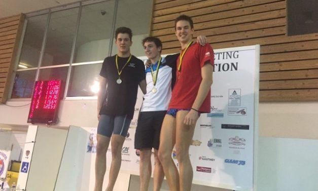 Meeting de Chambéry les samedi 11 et dimanche 12 à la piscine de Buisson rond : deux podiums pour Yann Vazart