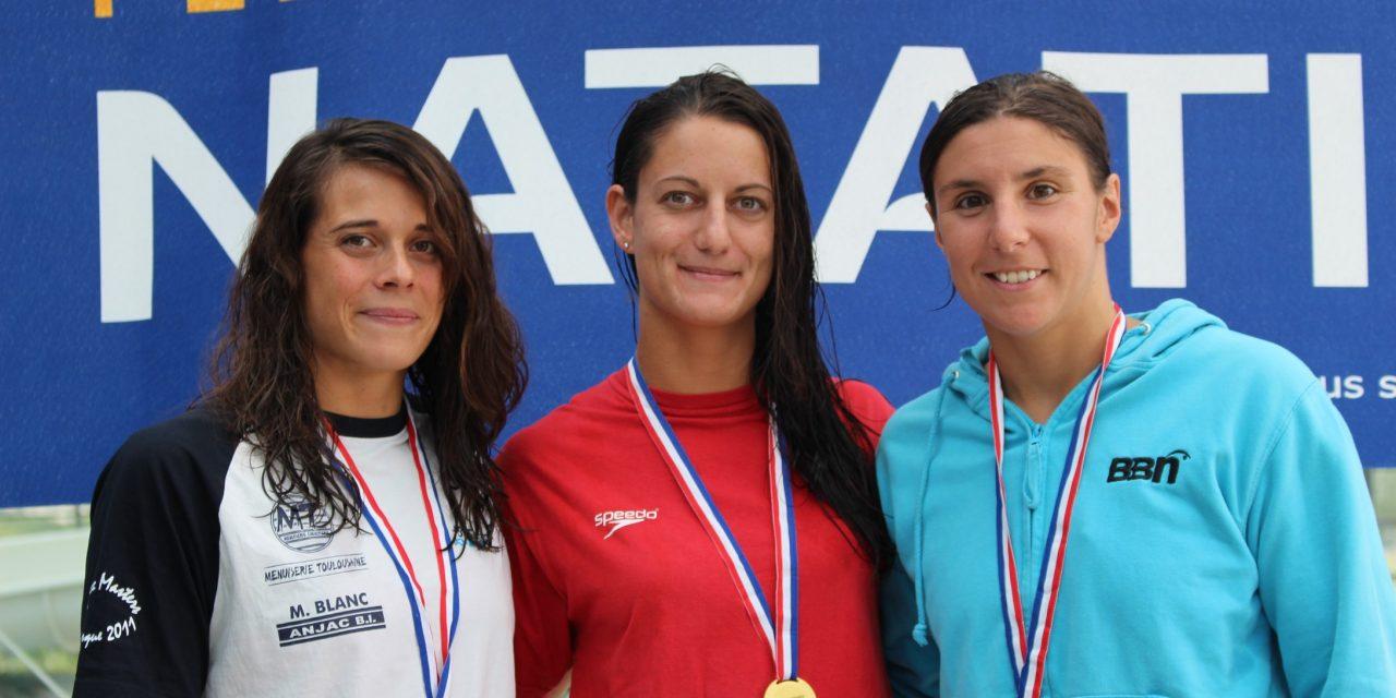 Championnats de France été 2017 des maîtres – Pauline championne de France du 50 m brasse C1, Fred 4ème du 1500 NL C4