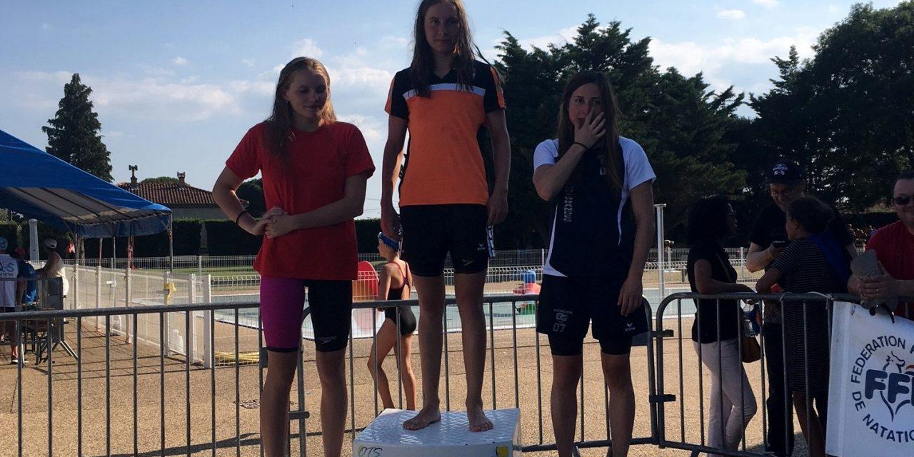 Meeting de Montélimar 2017 (17 et 18 juin)(4): Les derniers survivants se livrent au rush final, Alice, Florian et Jojo montent sur le podium.