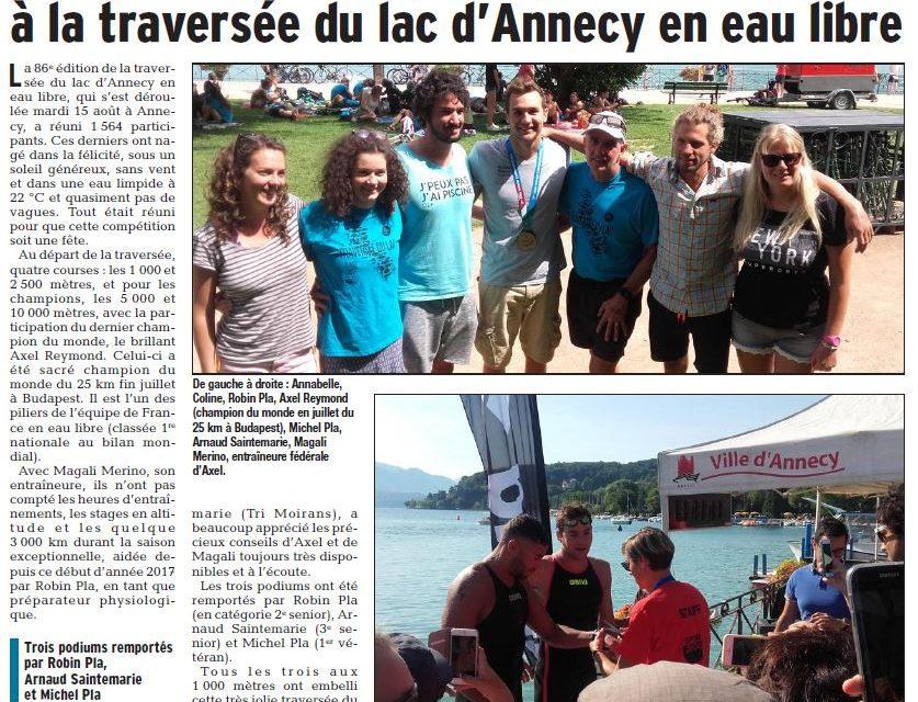 Traversée du Lac d'Annecy le 15 août : des médailles étonnantes