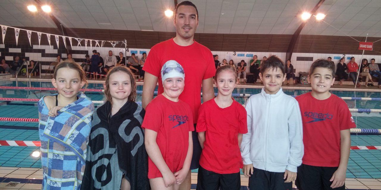 Natathlon Avenirs 1ère journée à St-Quentin Fallavier : Pluie de médailles pour les avenirs 1ère année
