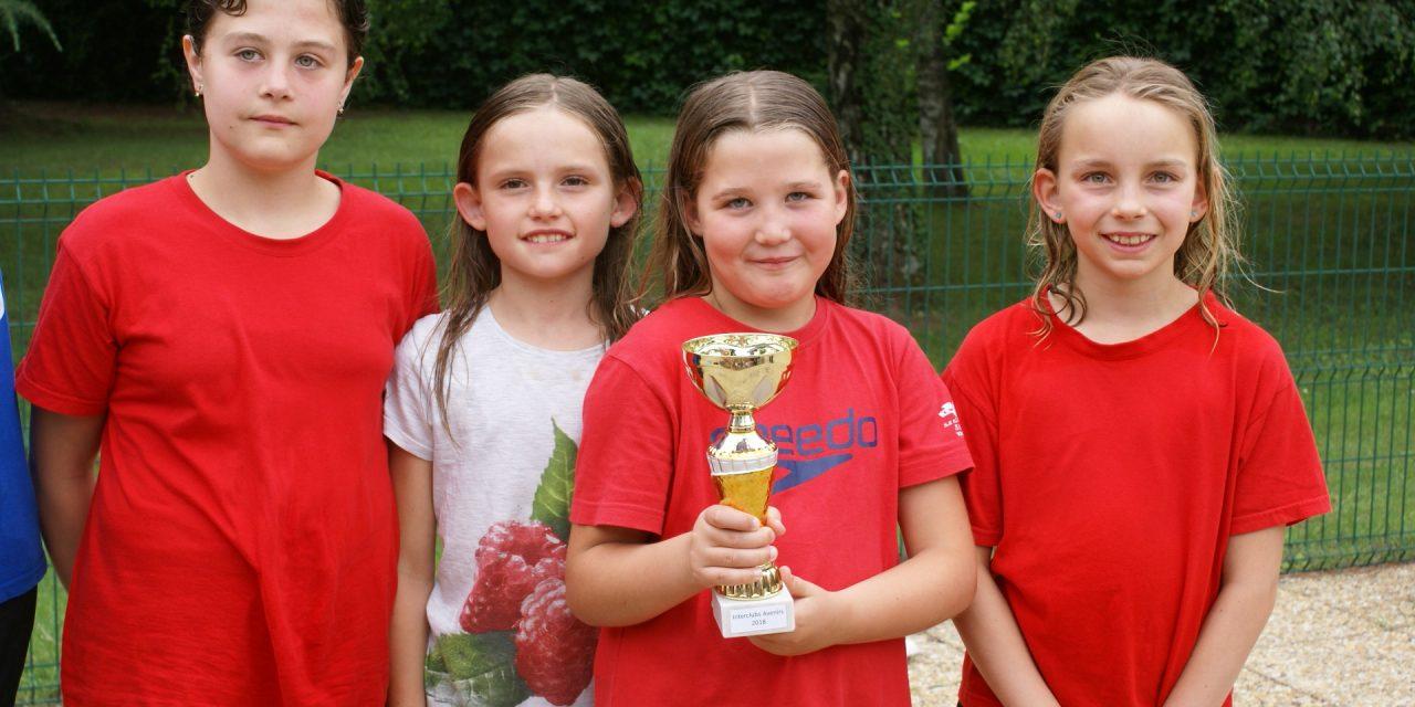 Championnats de l'Isère Interclubs (catégorie Avenirs) à St-Martin le Vinoux: les filles 3ème, les garçons 5ème