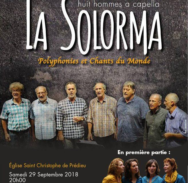 Concert de la Solorma pour l'USSE Natation le 29 septembre 2018
