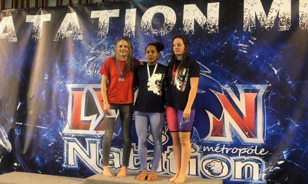 Meeting de Lyon des 15 et 16 décembre (1) : Alice repousse les limites du record du club du 50 nage libre.