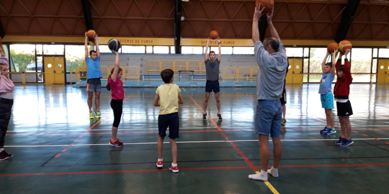 Stage de printemps à St-Martin le Vinoux (3) : Basket badminton le vendredi