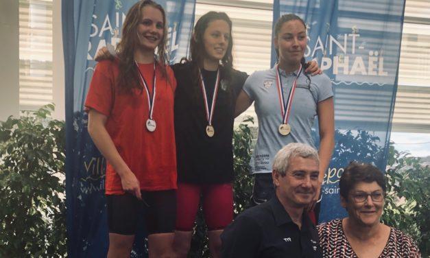 Alice Paillard médaillée d'argent au 50 libre à St-Raphaël