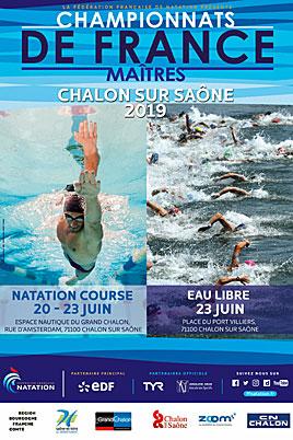 Championnats de France Maitres à Chalon sur Saône 2ème journée : 14ème titre pour Olivier, 9ème pour Grams, le relais 4*50 4 nages médaille de bronze