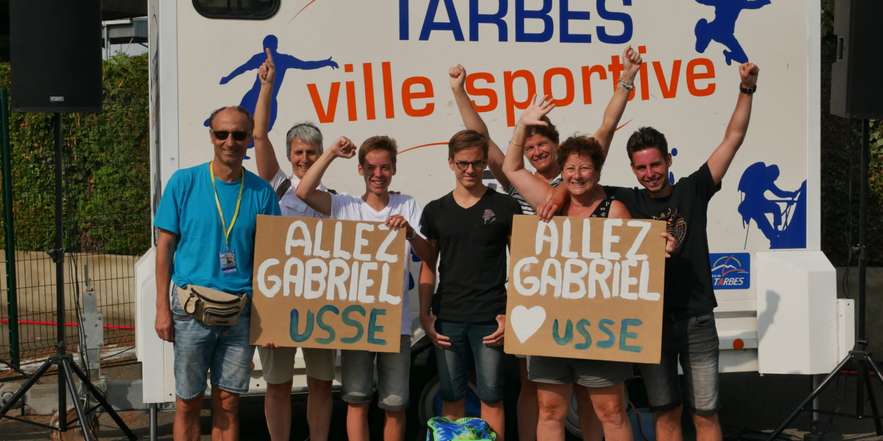 Championnats de France jeunes à Tarbes le 14 juillet (2) : Gabriel au rendez-vous en dos