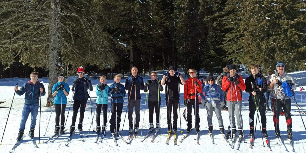 Ski de fond (5) : un groupe motivé et soudé mêlant plusieurs générations ce mercredi 17 février