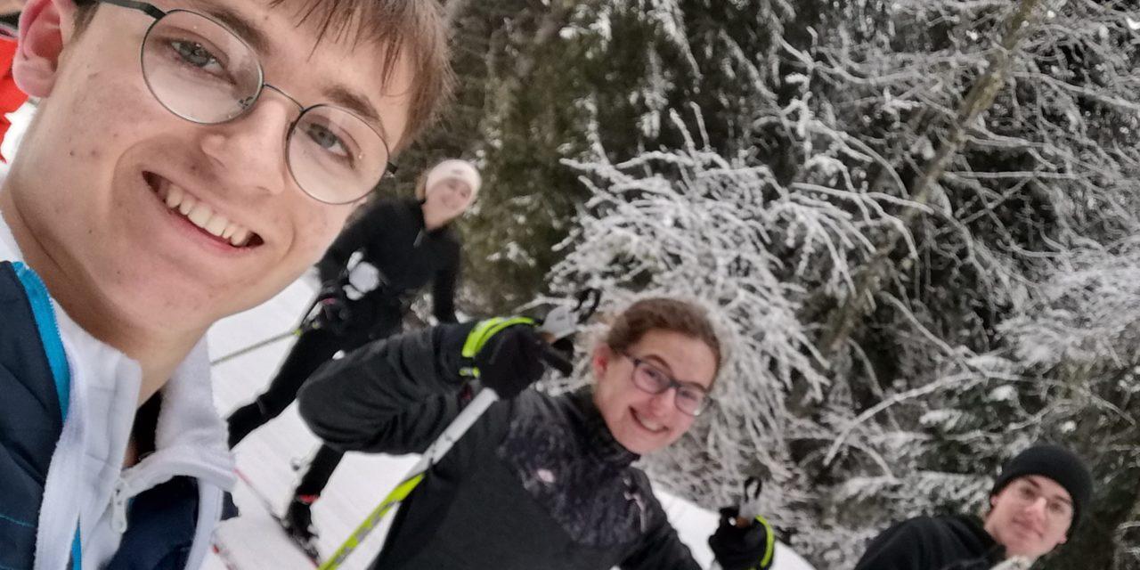 Deuxième journée de ski de fond en petit comité
